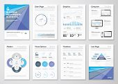 stock photo of graph paper  - Data visualization brochures and infographic business templates - JPG
