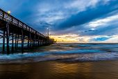 picture of storms  - Newport Beach Pier before for the storm arrives - JPG