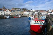 stock photo of february  - Pittemweem harbour at the east coast of Scotland UK in February - JPG