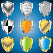 Постер, плакат: A Set Of Metallic Shields