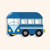 foto of motor-bus  - Transportation Bus Theme Elements Vector - JPG
