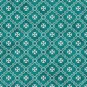 pic of maltese-cross  - Teal and White Maltese Cross Symbol Tile Pattern Repeat Background that is seamless and repeats - JPG