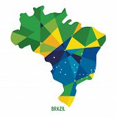 picture of brasilia  - Map of Brazil Vector Illustration - JPG