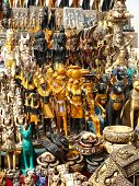 stock photo of nefertiti  - Typical merchandise of souvenirs in a street market at Cairo  - JPG