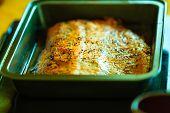 stock photo of salmon steak  - Seafood - JPG