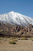 stock photo of volcanic  - Desert Landscape in Volcan Teide National Park - JPG