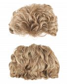 picture of foreshortening  - Curly hair wig isolated over the white background - JPG