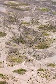 image of bromo  - Aerial view of sea of sand inside Bromo Tengger Caldera - JPG