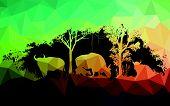 pic of oxen  - animal of wildlife is bull or gaur or wild ox  - JPG