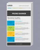 pic of newsletter  - Newsletter 3D template with three main colors - JPG