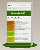 image of newsletter  - Responsive newsletter template with business style and text - JPG