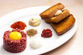 stock photo of tartar  - sirloin steak tartare - JPG