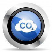 foto of carbon-dioxide  - carbon dioxide icon co2 sign original modern design for web and mobile app on white background  - JPG