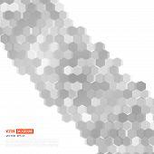 picture of hexagon  - Vector abstract 3d hexagonal - JPG