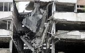 pic of yugoslavia  - Building destroyed in 1999 during NATO bombing campaign in Yugoslavia - JPG