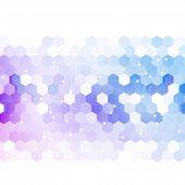 image of hexagon  - Vector abstract 3d hexagonal - JPG