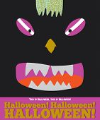 foto of halloween characters  - Bright trick or treat card in vector - JPG