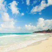 stock photo of atlantic ocean  - Coastal Caribbean landscape - JPG