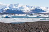 pic of iceberg  - Beauty of Floating icebergs in Jokulsarlon lagoon Iceland - JPG