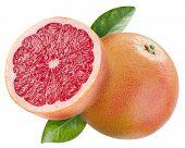 image of half  - Ripe grapefruit and the half of grapefruit - JPG