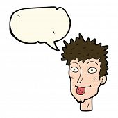pic of sticking out tongue  - cartoon man sticking out tongue with speech bubble - JPG