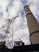pic of chimney  - tall concrete chimney and high - JPG