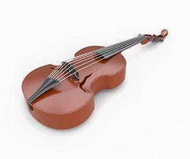 stock photo of string instrument  - Viola close - JPG