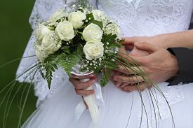 stock photo of wedding  - wedding bouquet - JPG