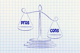 stock photo of pro-life  - more cons than pros metaphor of balance measuring the good and the bad - JPG