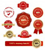 money back satisfaction vector labels