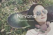 Постер, плакат: Nirvana Placid Peaceful Tranquility Serene Rest Concept