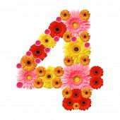 image of arabic numerals  - 4 - JPG