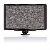 Modern LCD TV or television computer monitor with static