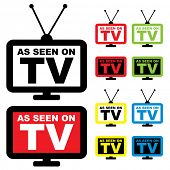 Collection of as seen on TV icon with television aerial