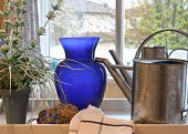 stock photo of flower vase  - Watering can - JPG