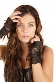 Woman Lace Gloves Hands