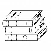 Heap Of Book Icon. Outline Illustration Of Heap Of Book  Icon For Web poster