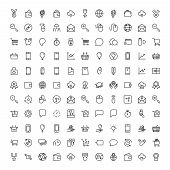 Marketing Flat Icon Set. Single High Quality Outline Symbol Of Info For Web Design Or Mobile App. Th poster
