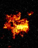stock photo of outer core  - Explosion in deep sky - JPG