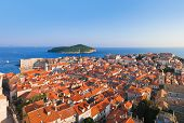 Panorama Of Dubrovnik In Croatia