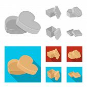 Box, Container, Package, And Other Web Icon In Monochrome, Flat Style.case, Shell, Framework, Icons  poster