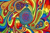 Pattern, Handdrawn Doodling Design Illustration, . Kids Illustration, Cute Background. Color Doodle  poster