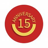 15 Anniversary Sign. Element Of Anniversary Sign. Premium Quality Graphic Design Icon In Badge Style poster