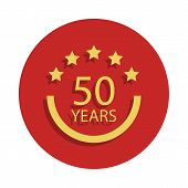 50 Years Anniversary Sign. Element Of Anniversary Sign. Premium Quality Graphic Design Icon In Badge poster