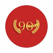 90 Years Anniversary Sign. Element Of Anniversary Sign. Premium Quality Graphic Design Icon In Badge poster