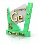 Germanium Form Periodic Table Of Elements - V2 poster