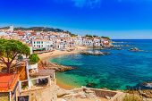 Sea Landscape With Calella De Palafrugell, Catalonia, Spain Near Of Barcelona. Scenic Fisherman Vill poster