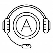 Audio Book Listen Icon. Outline Illustration Of Audio Book Listen Icon For Web Design Isolated On Wh poster
