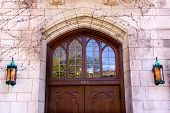 Yale University Doorway Wooden Door Lamps