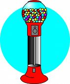 image of gumballs  - Gumball Machine Clip Art in Retro Cartoon Style - JPG